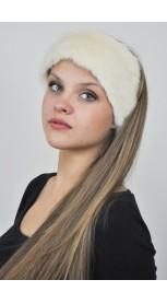 Nerz Pelz – Halswärmer und Stirnbänder - weiss