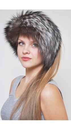 Halswärmer und Stirnbänder aus Silberfuchs