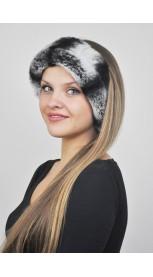 Rex- Chinchilla Pelz- Halswärmer und Stirnbänder