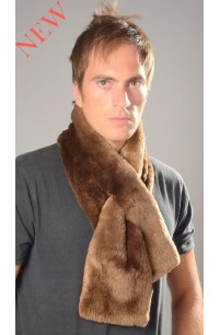 Beaver fur scarf - Dark brown