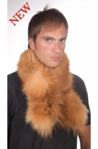 Men's golden fox fur scarf