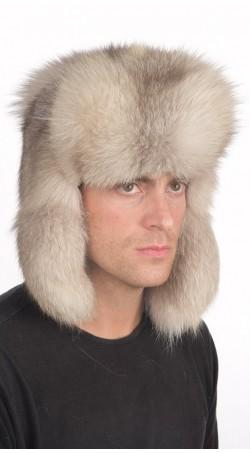 Graufuchs Pelzmütze russischen Stil